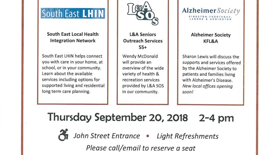 Healthy Living Series event Sep 20 at Trinity